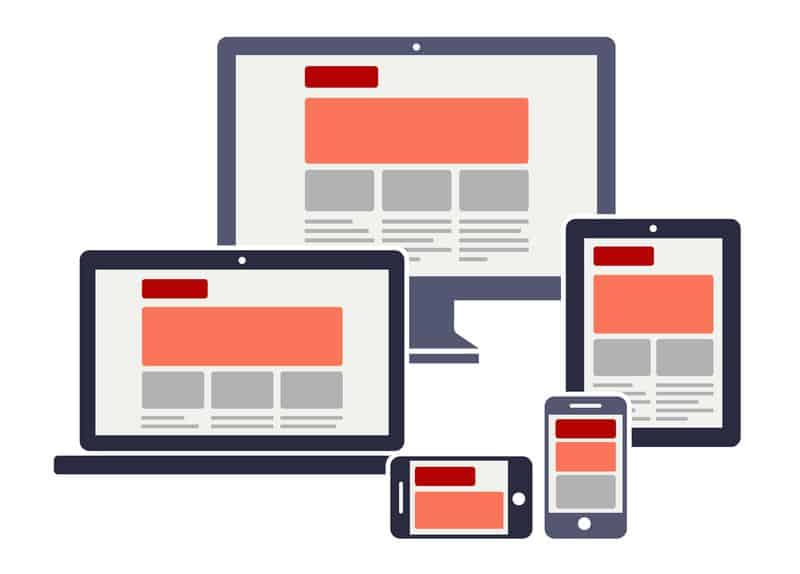 graphic showing mobile responsivness